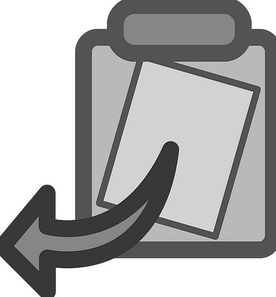 Clipboard Reproduction Paste Adhesive Copy Grey Im