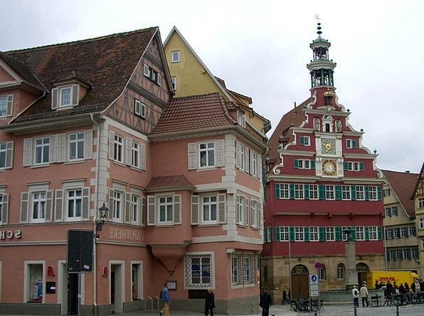 Esslingen Town Hall Square Old Town Hall Row Of Ho