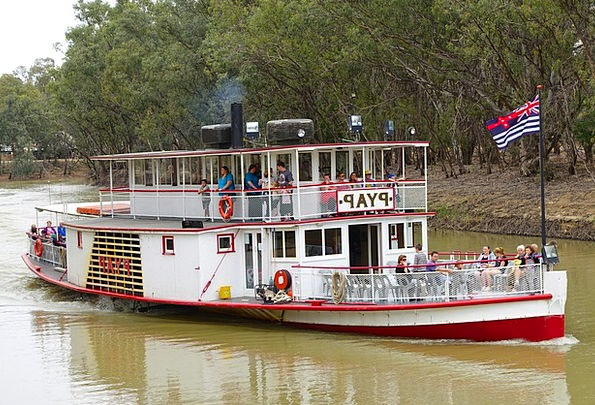 Paddle Steamer Traffic Transportation River Boat P