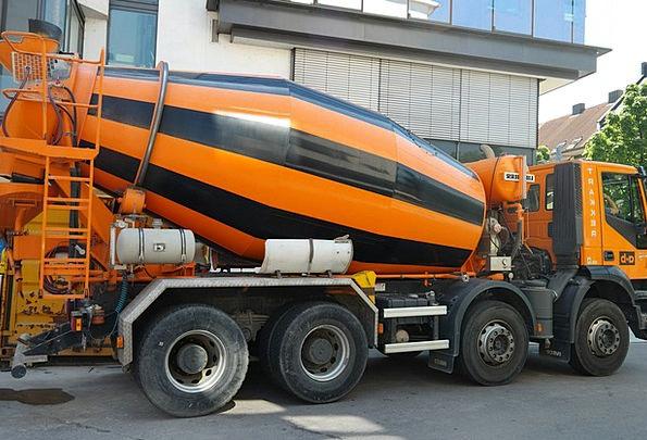 Concrete Mixer Traffic Transportation Vehicle Car