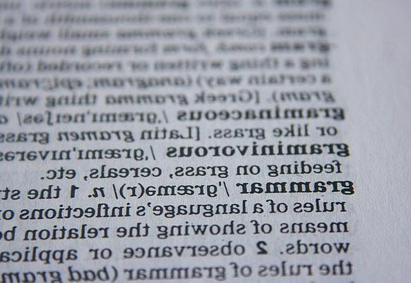 Grammar Syntax Dictionary Lexicon Abc School Words