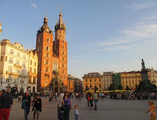 Poland Cathedral Church Krakow Rynek
