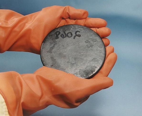 Uranium Dangerous Nuclear Atomic Radioactive Glove