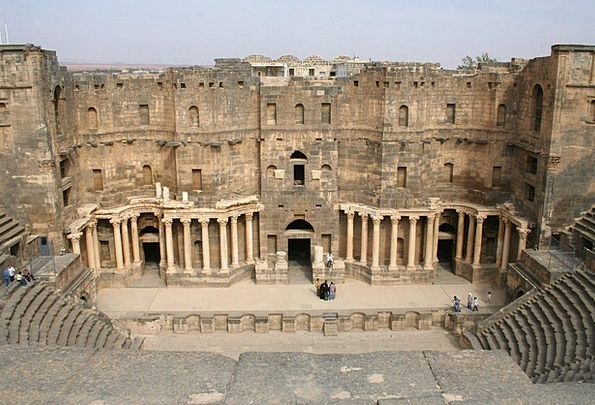 Syria Monuments Places Amphitheater Stadium Bosra
