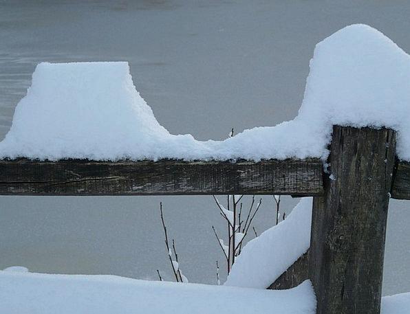 Snow Snowflake Barrier Winter Season Fence Cold Em