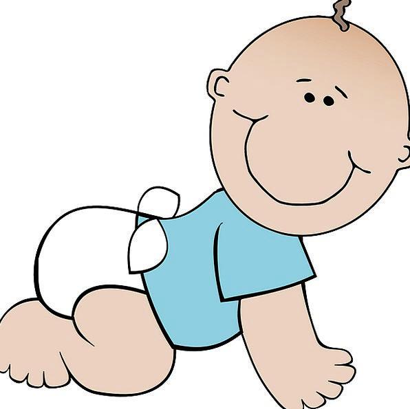 Baby Darling Lad Crawling Swarming Boy Shirt Cauca