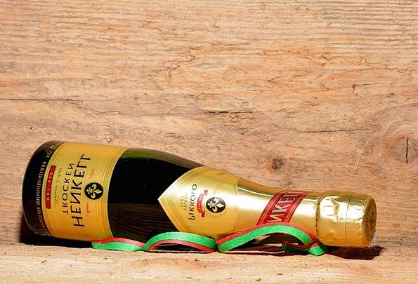 Champagne Bubbly Bottle Flask Bottle Of Sparkling