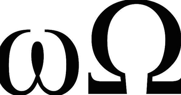 Omega Ciphers Mathematics Arithmetic Symbols Units