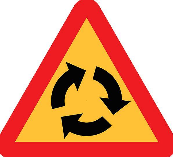 Roundabout Indirect Traffic Transportation Roadsig