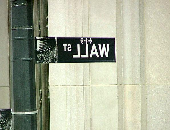 Wall Street Traffic Road Transportation Sign Symbo
