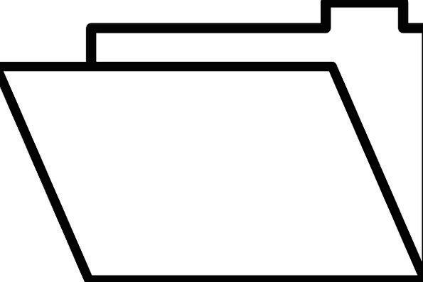 Folder Binder Workplace File Office Empty Unfilled