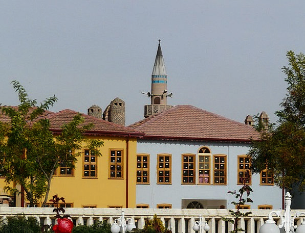 Minaret Turret Families Turkey Homes Konya Colorfu