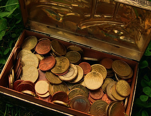 Treasure Gem Finance Chest Business Euro Treasure