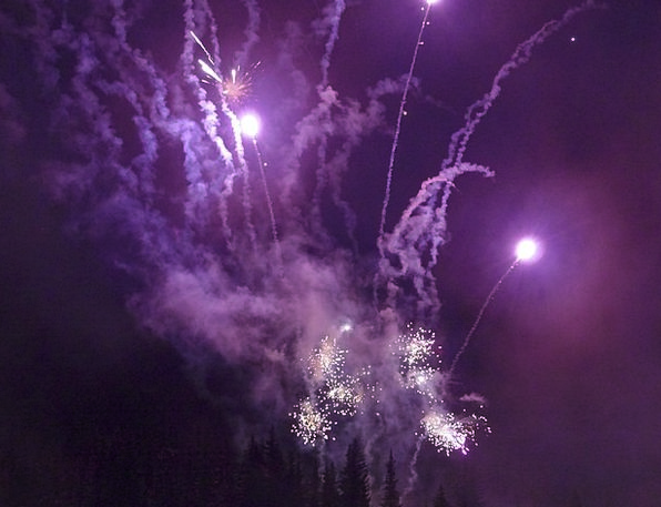 Fireworks Rockets Skyrockets Sylvester Holiday Fir