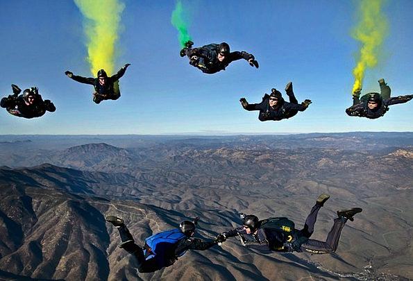 California Landscapes Nature Skydivers Parachutist