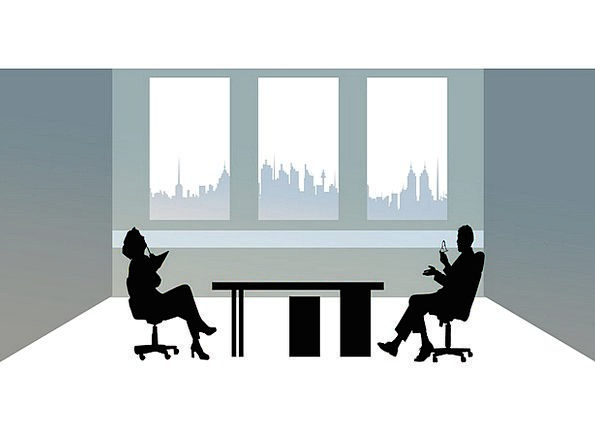 Businessmen Manufacturers Workplace Silhouettes Ou