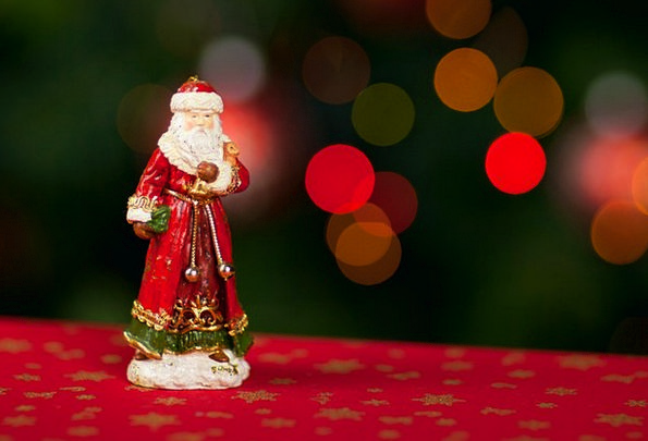 Christmas Claus Santa Ornament Light Bright Noel M