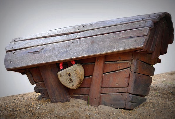 Coffin Box Capital Lock Padlock Treasury Sand Shin