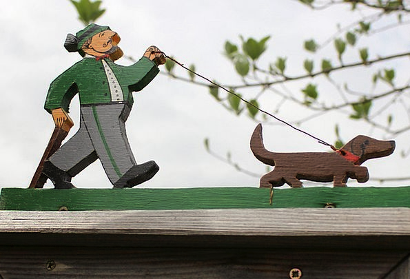 Fretsaw Jigsaw Figure Fig Holzfigur Dog Hunter Wal