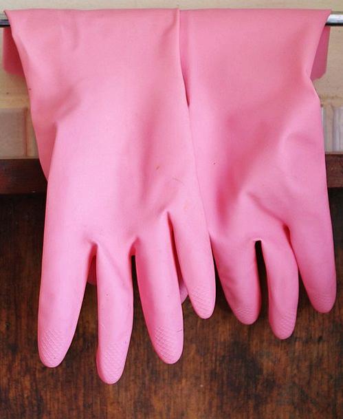 Rubber Gloves Ornaments Pink Flushed Gloves Hangin