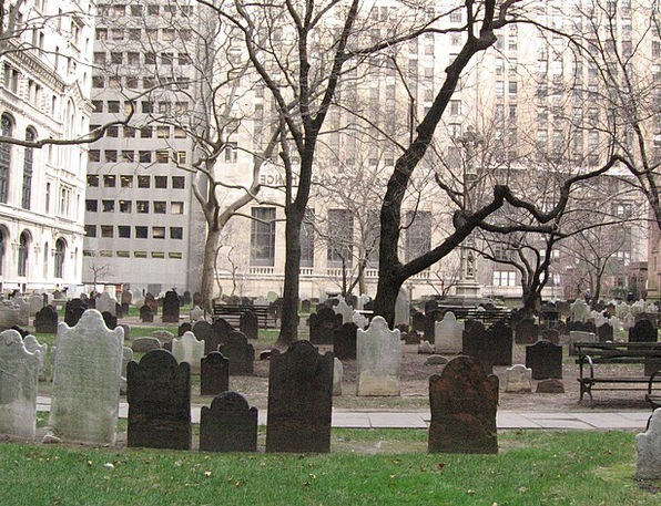 Cemetery Graveyard Wall Street New York
