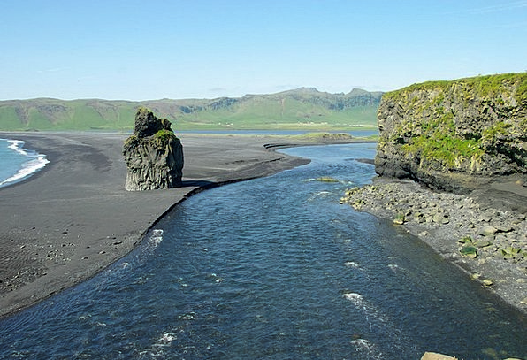 Iceland Vacation Seashore Travel Vik Beach Black S