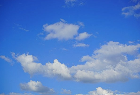 Sky Azure Clouds Vapors Blue White Snowy Summer Da