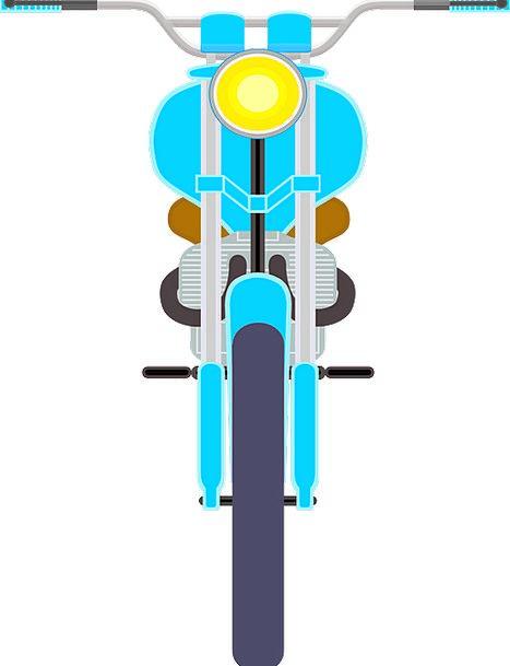 Motorcycle Moped Sulked Motorbike Bike Free Vector