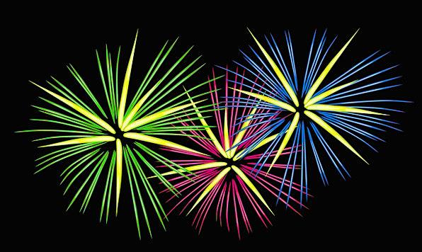 Fireworks Rockets Celebratory Firecrackers Festive