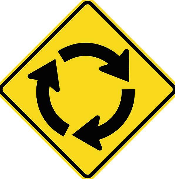 Roundabout Indirect Traffic Fast Transportation Ci