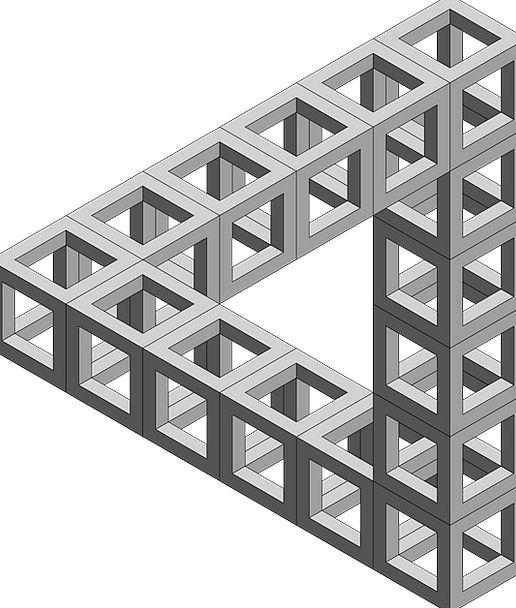 Impossible Unbearable Illusion Triangle Threesome