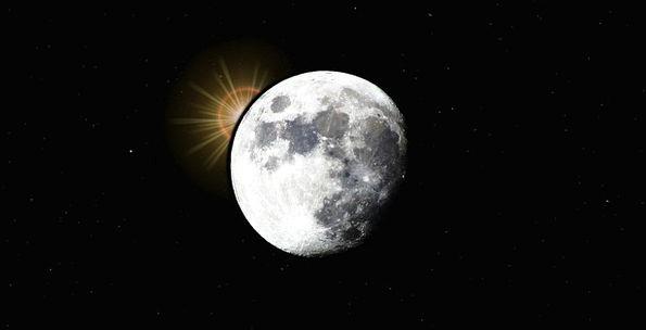 Moon Romanticize Interplanetary Planet Space Dark