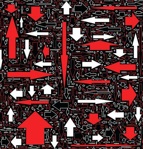 Black Dark Bloodshot White Snowy Red Abstract Arro