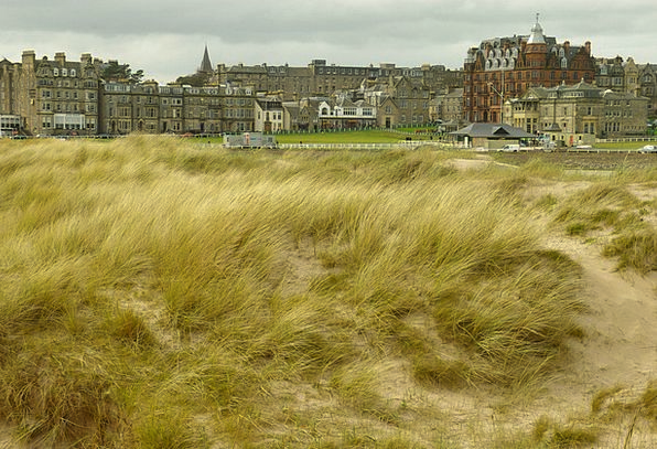 Scotland Golf Saint Andrews Sand Shingle Dunes Ban