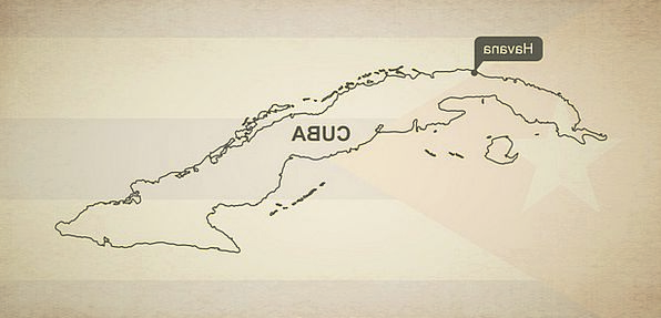 Outline Plan Chart Cuba Map Geography Topography F