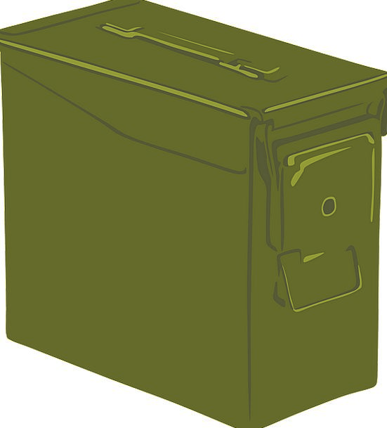 Ammo Can Container Ampule Box Ammo Olive Green Can