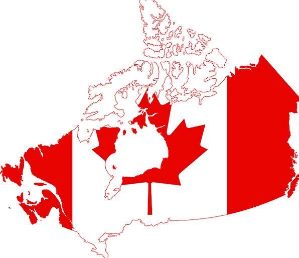 Canada Map Flag.Canada Standard Map Chart Flag Nation Country Republic Leaf