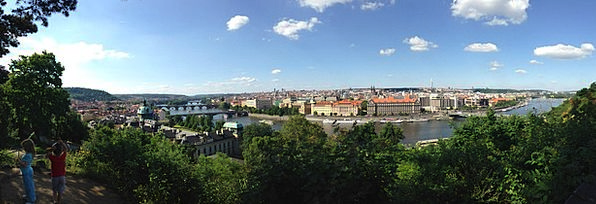 Prague Bonds Vltava Bridges River Stream
