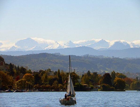 Switzerland Zurich Zurich Lake Boot Gumboot See Wa