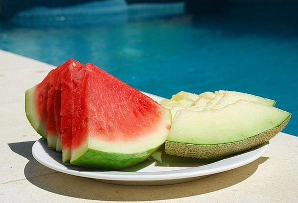 Watermelon Drink Food Fruit Ovary Melon Pool Pond
