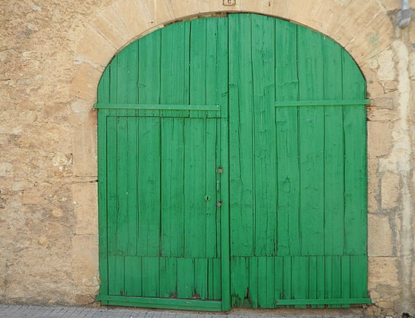 Green Lime Buildings Entrance Architecture Goal Go