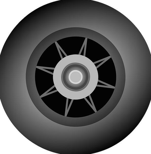 Tire Exhaust Dark Rim Edge Black Skidding Rubber N