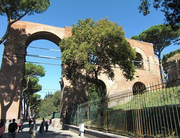 Aqueduct Channel Buildings Architecture Italy Rome