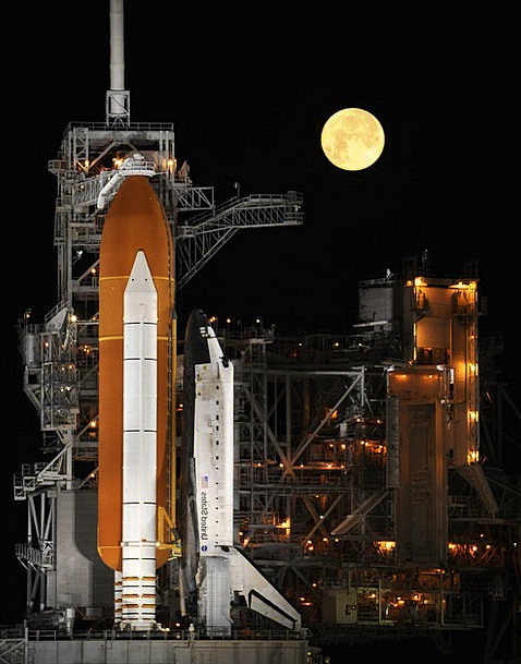 Rocket Launch Moonshot Nightly Space Shuttle Space