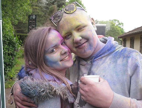 Holi Fixed Gathering Berlin Party Color Hue Human