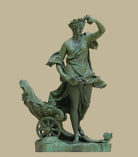 Statue Figurine Fashion Beauty Woman Lady Bronze F