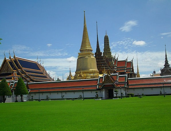 Temple Shrine Thailand Bangkok Gold Gilded Asia Bu