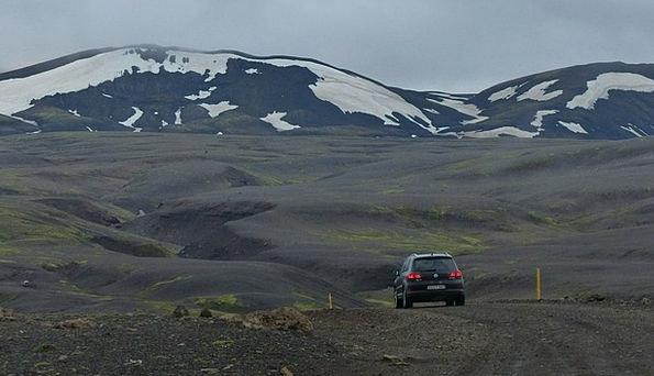 Iceland Traffic Path Transportation Glaciers Track
