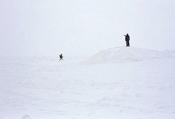 Michigan Public Winter Season People Walking Snow