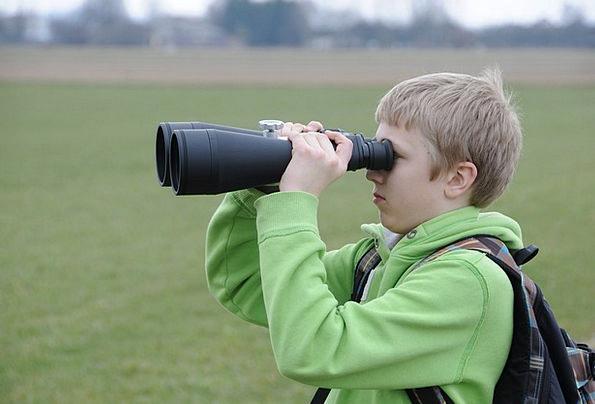 Binoculars Eyeglasses Investigators Young People Y